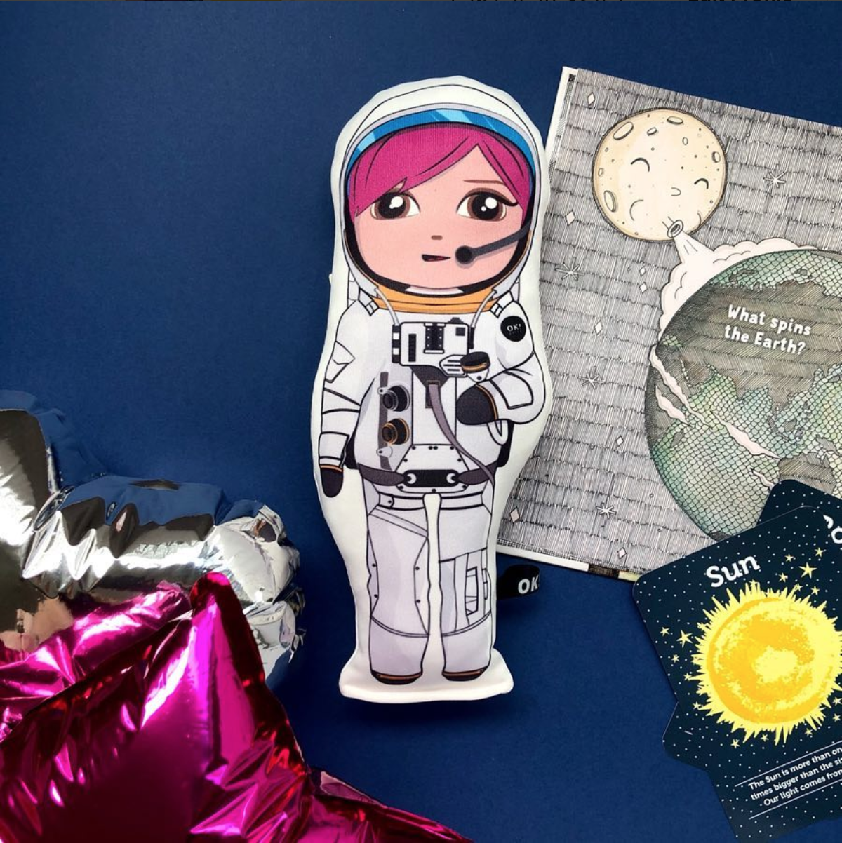 Amber the Astronaut doll in honey skin tone by OK!Dolls